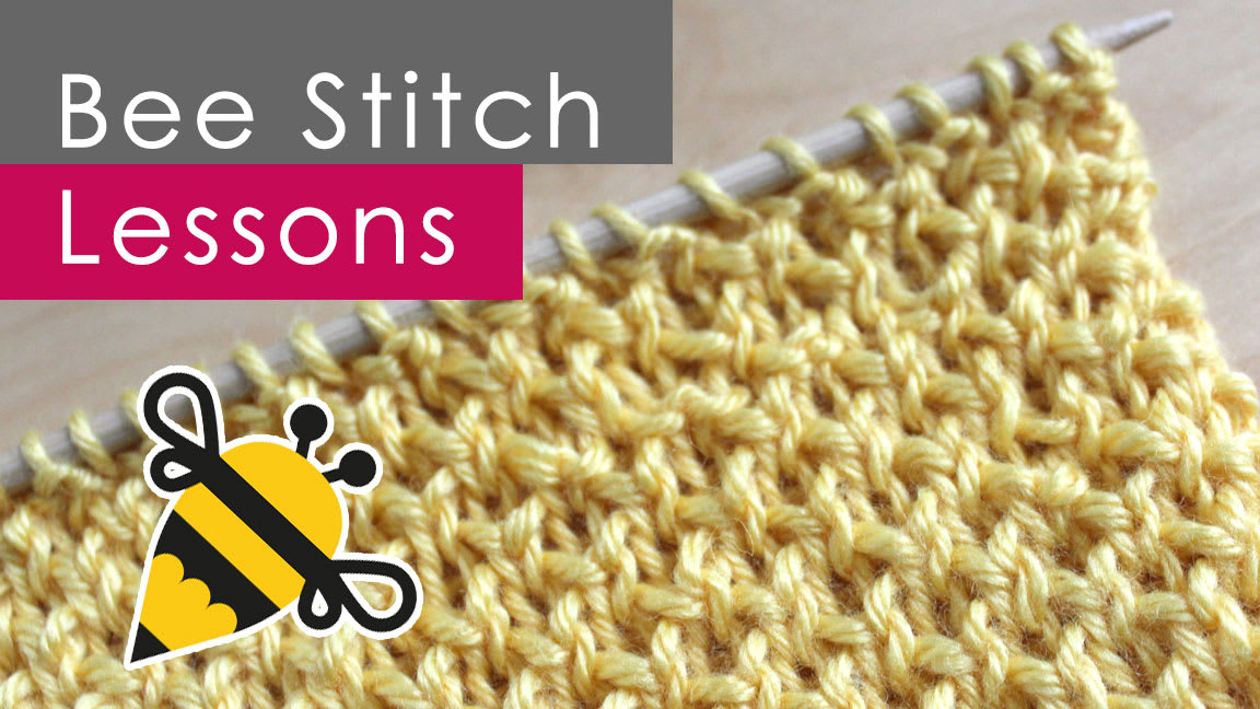 How To Knit The Bee Stitch Pattern With Video Tutorial Studio Knit