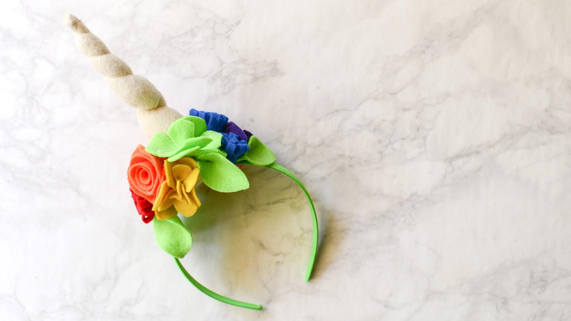 Easy Diy Felt Unicorn Horn Headband Tutorial Free Printable