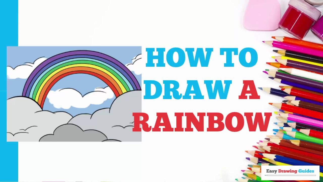 How To Draw A Rainbow Really Easy Drawing Tutorial