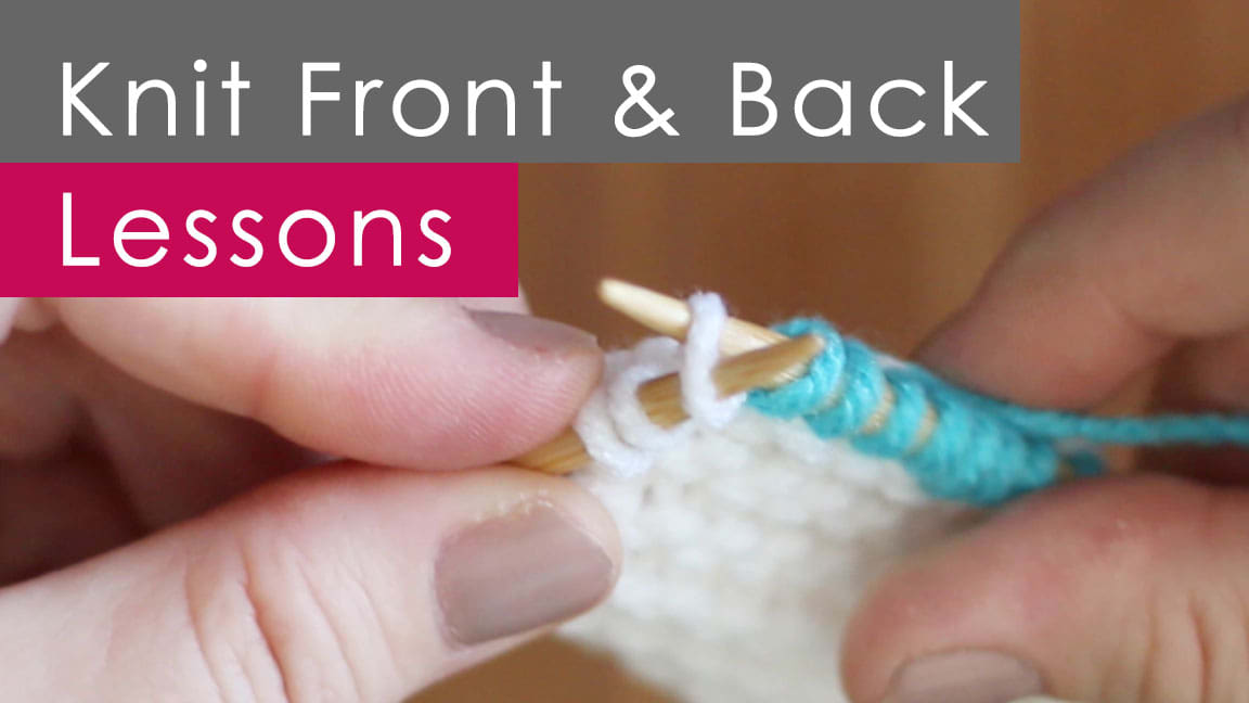 Kfb Knit Front And Back Knitting Technique With Video Tutorial
