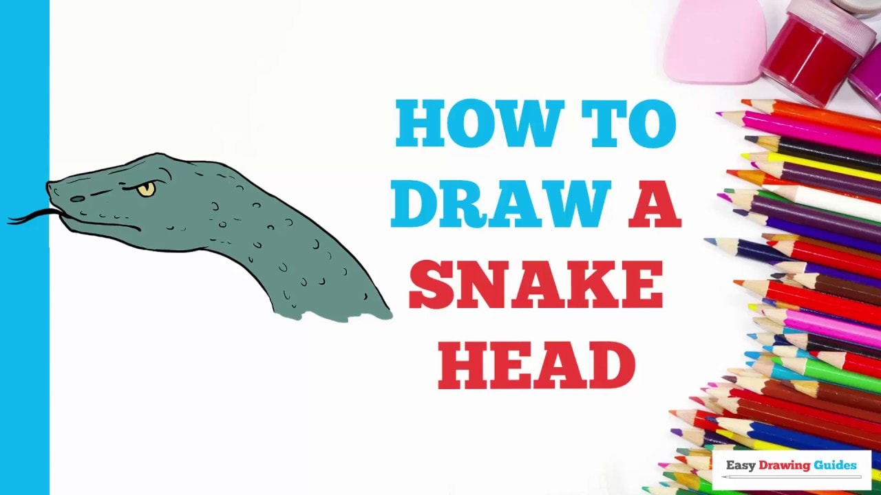 How To Draw A Snake Head Really Easy Drawing Tutorial