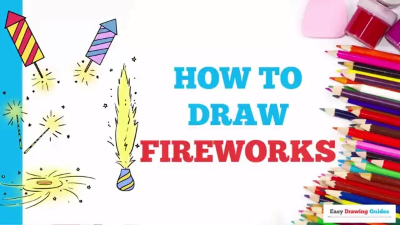 How To Draw Fireworks Really Easy Drawing Tutorial
