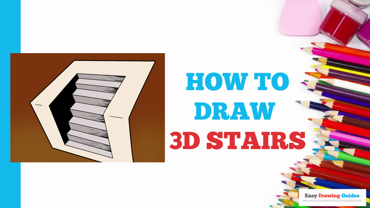 How To Draw 3d Stairs Really Easy Drawing Tutorial