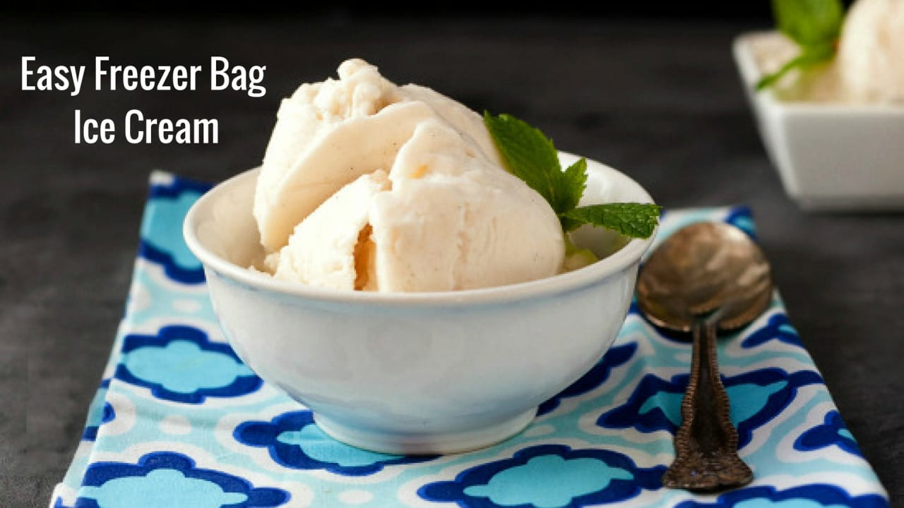 Easy freezer bag ice cream beauty and the foodie ccuart Gallery