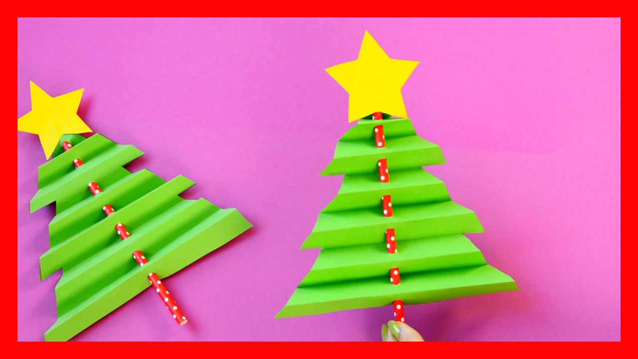 Accordion Paper Christmas Tree - Easy Peasy and Fun