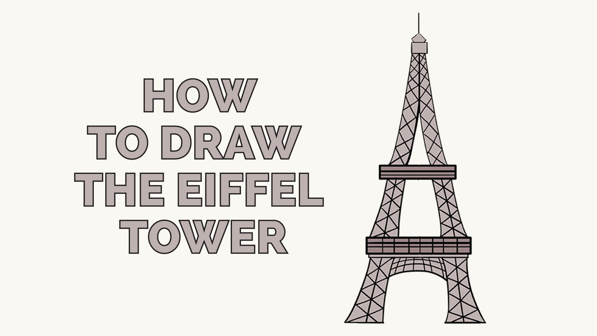 How to draw a tower 3