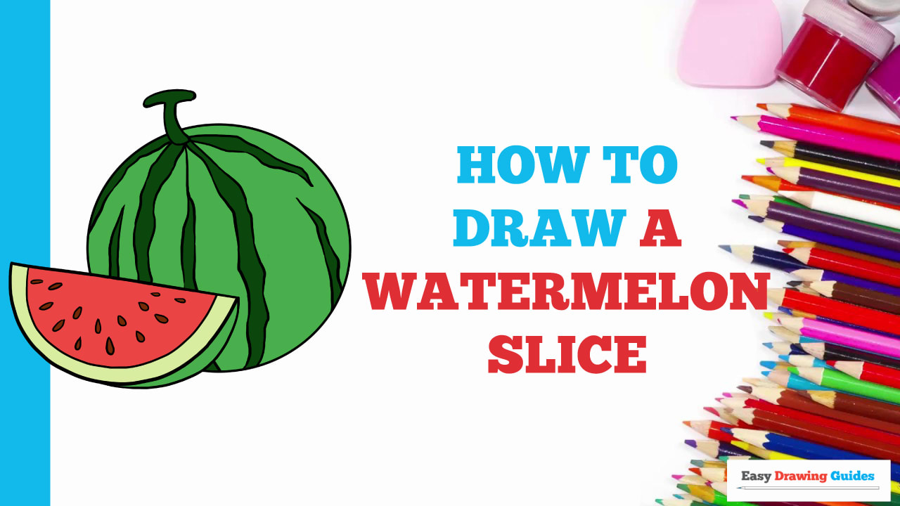 How To Draw A Watermelon Really Easy Drawing Tutorial