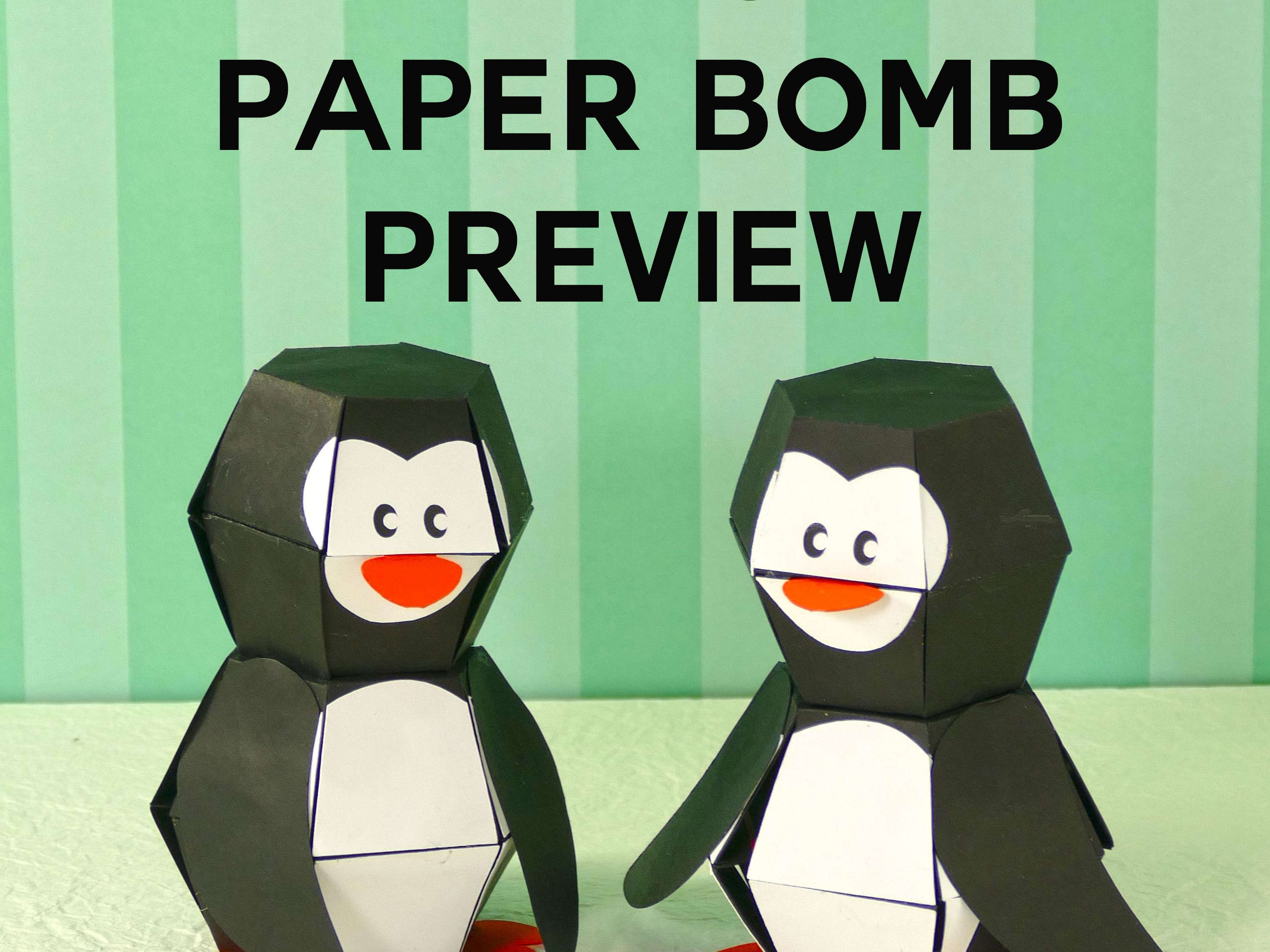 Penguin Paper Bomb Amazing Pop Up Action Jennifer Maker 3d Origami Animation Diagrams Animated Diagram To Fold A