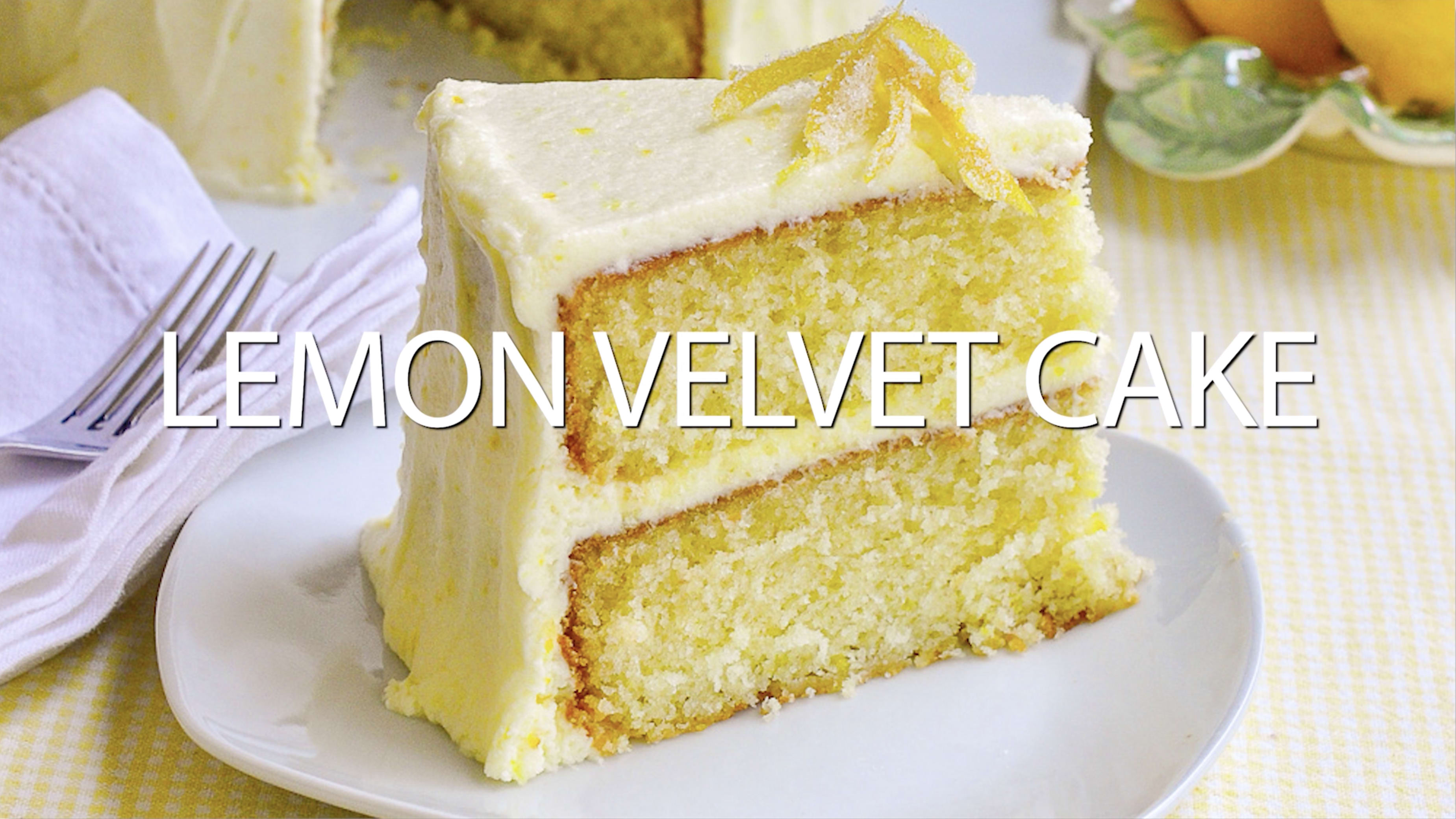 Lemon Velvet Cake Homemade Light Textured And Great Lemon Flavour
