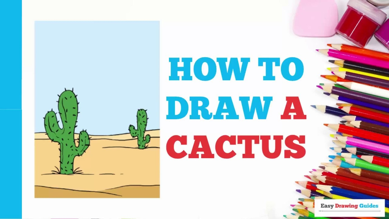 How To Draw A Cactus Really Easy Drawing Tutorial