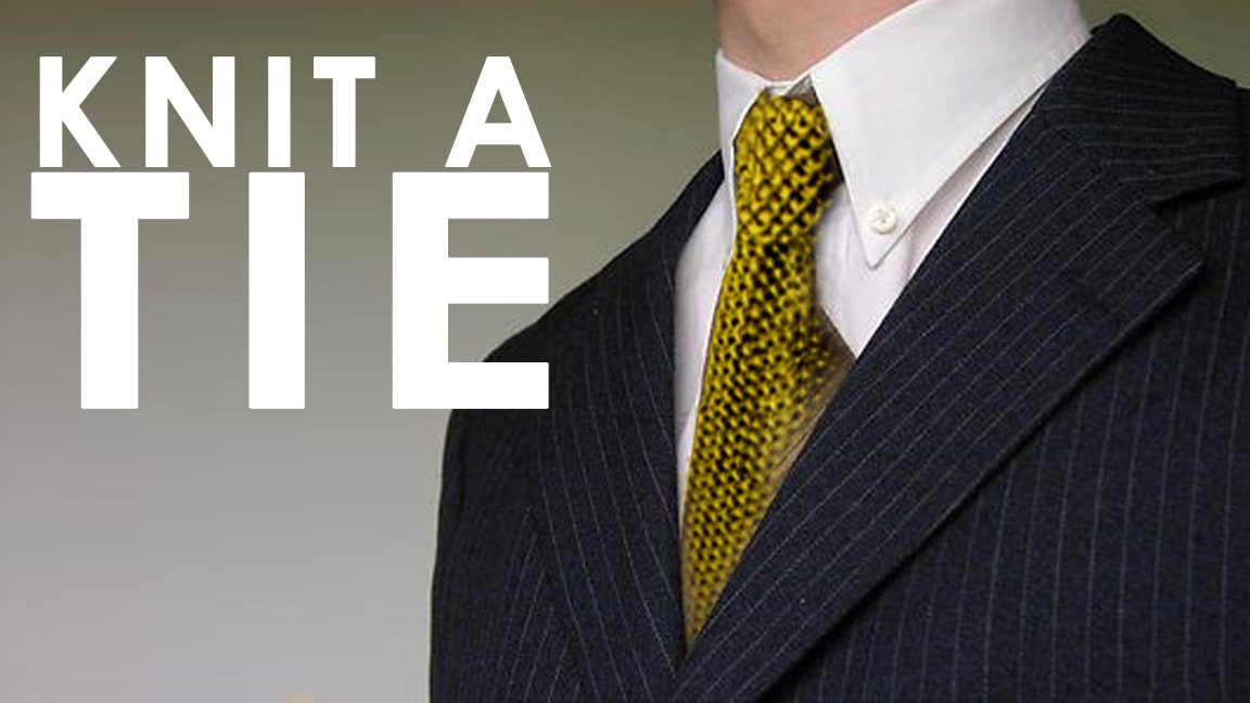 How To Knit A Seed Stitch Necktie Pattern With Video Tutorial