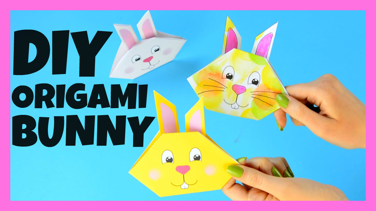 origami bunny tutorial with printable template easy peasy and fun