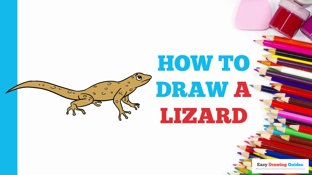 How To Draw A Lizard Really Easy Drawing Tutorial