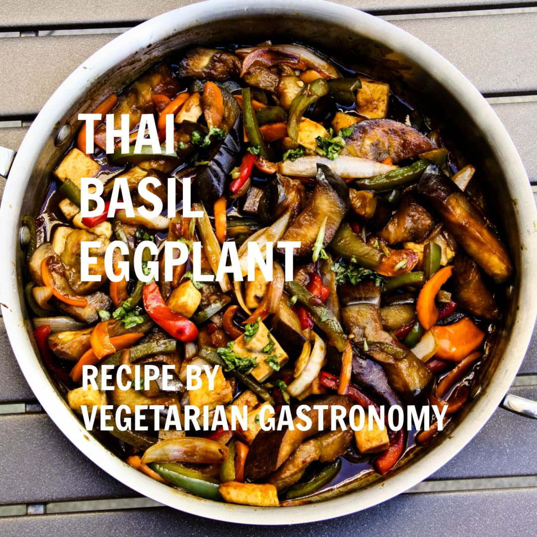 Thai basil eggplant vegan gluten free vegetarian gastronomy forumfinder Image collections