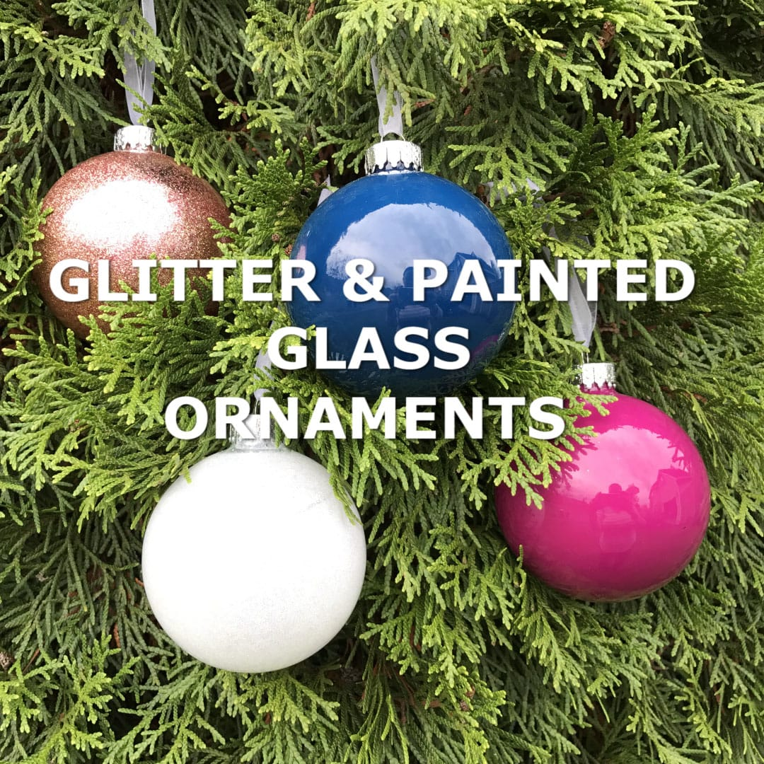 how to make glitter painted glass ornaments todays creative life