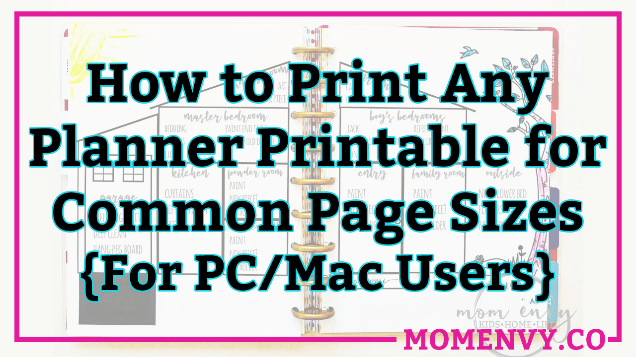 How to Resize Planner Printables for Any Size Planner or TNs