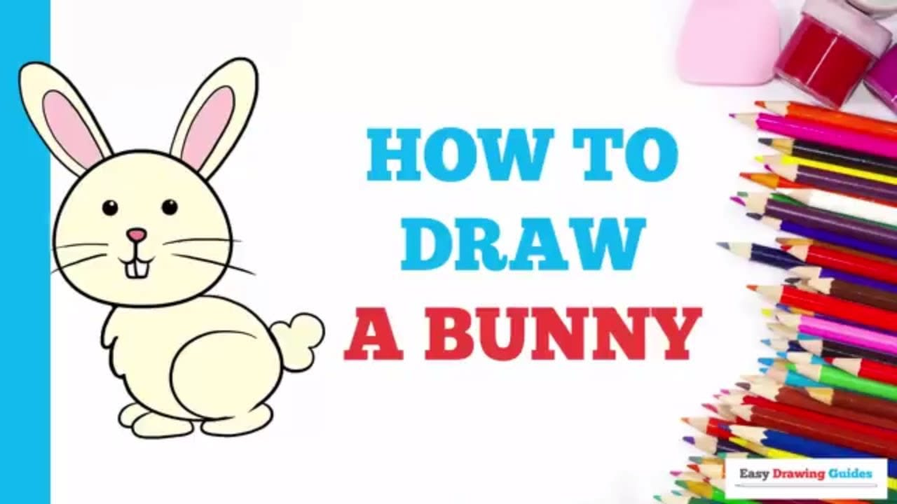 How To Draw A Bunny Really Easy Drawing Tutorial Easy Drawing Guides