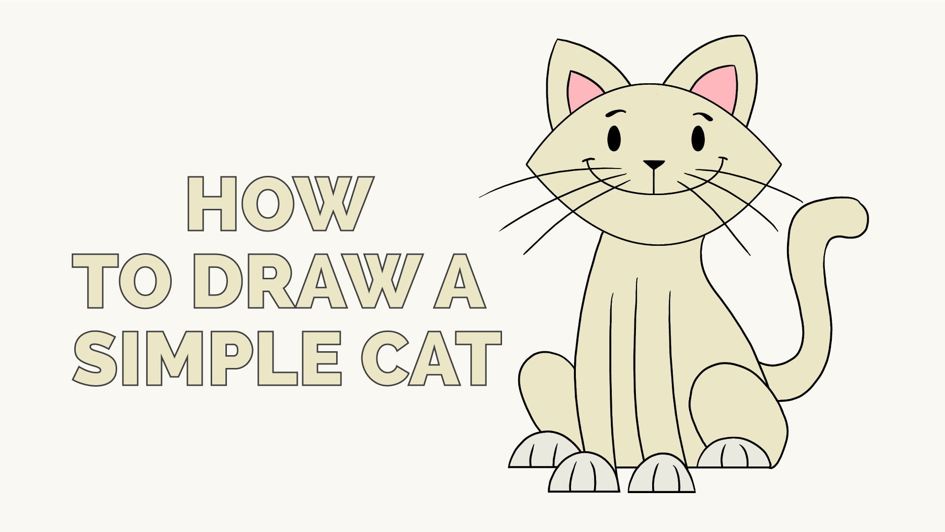 How to draw a simple cat easy drawing guides
