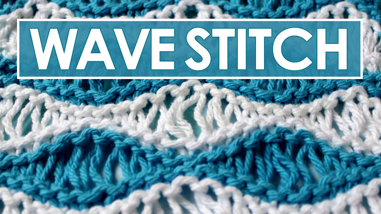 Sea Foam Wave Drop Knit Stitch Pattern With Video Tutorial Studio Knit