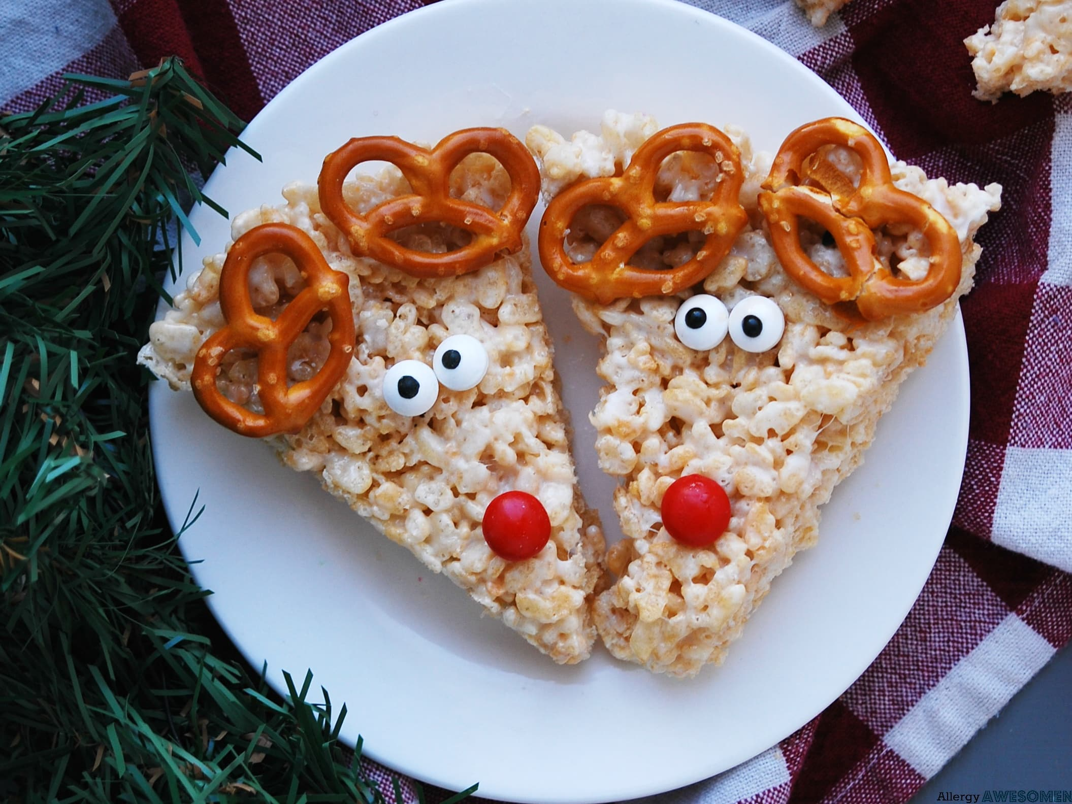 Allergy-friendly Reindeer Rice Krispies - Allergy Awesomeness