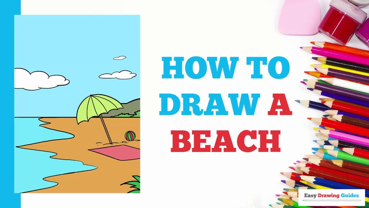 How to draw a beach really easy drawing tutorial