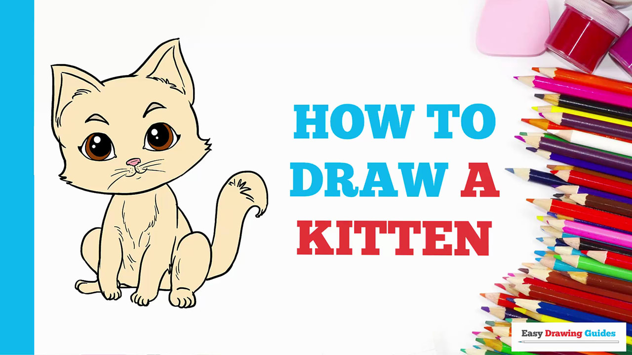 How To Draw Kitten Really Easy Drawing Tutorial