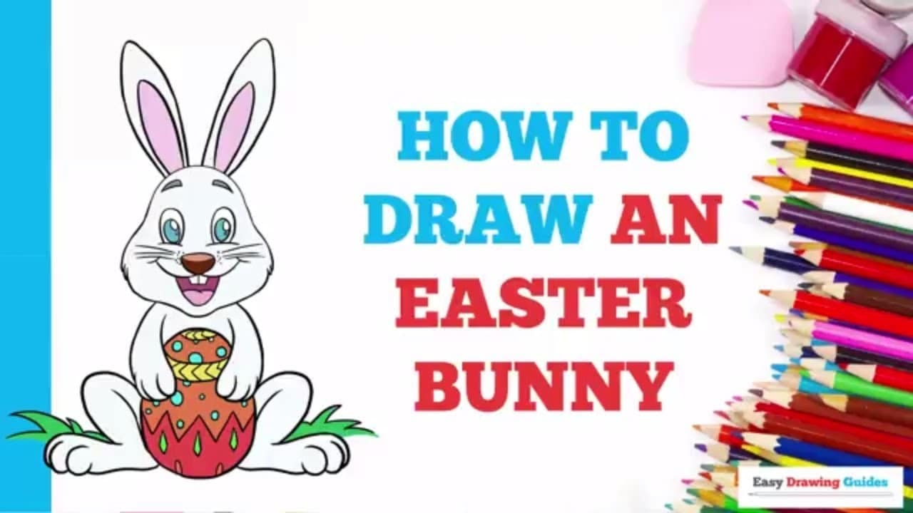 How To Draw An Easter Bunny Really Easy Drawing Tutorial