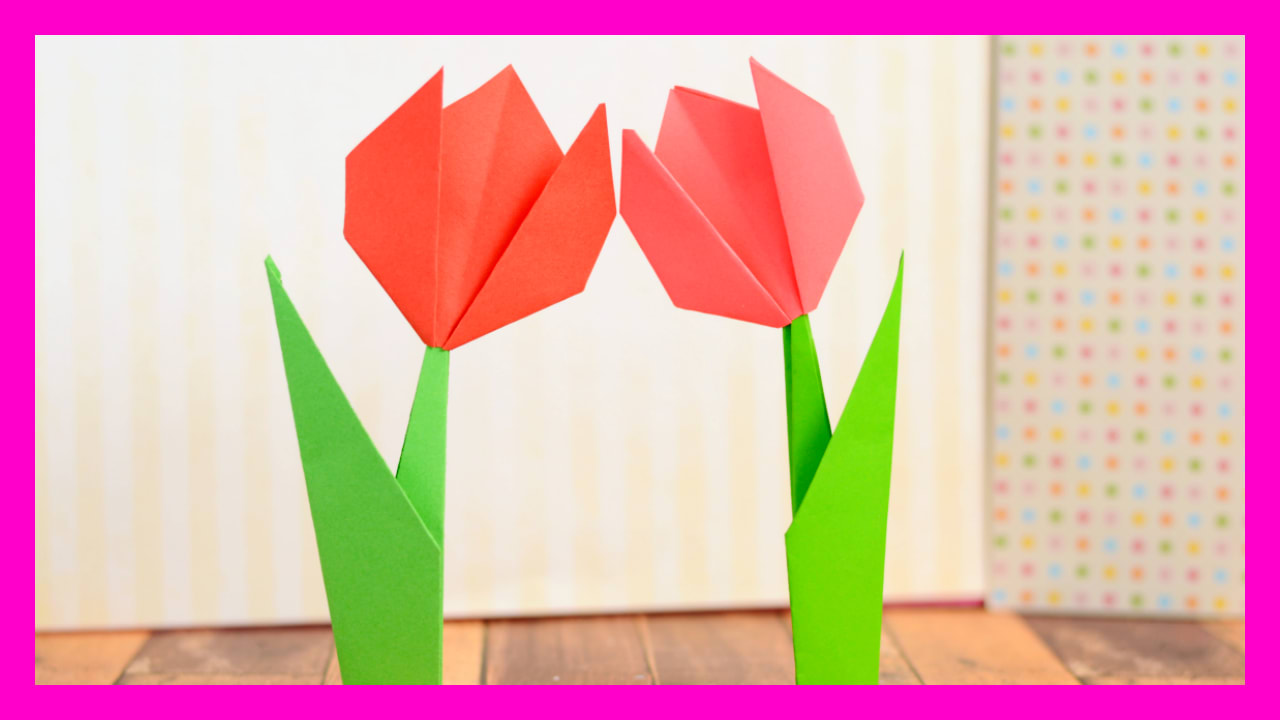 How To Make Origami Flowers Origami Tulip Tutorial With Diagram