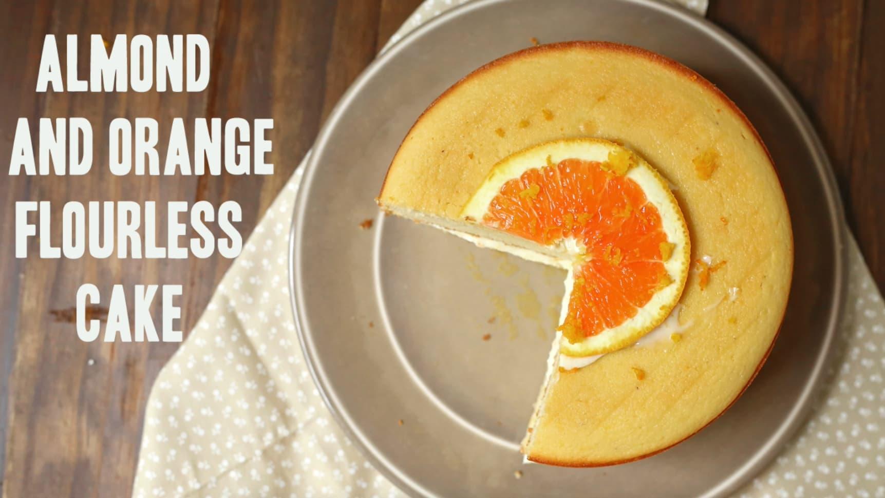 Almond And Orange Flourless Cake Easy Blender Recipe