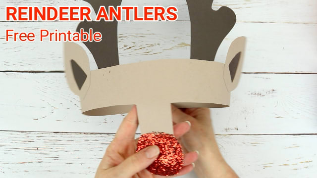 printable reindeer antlers to colour and wear kids craft room