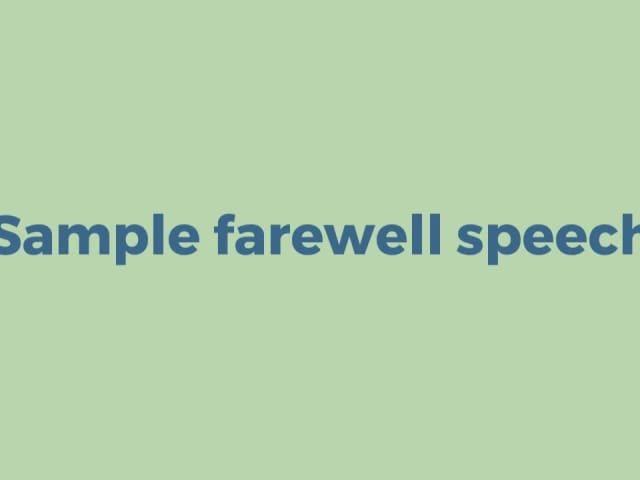 short formal speech example