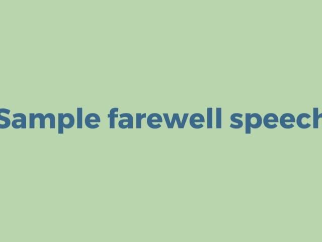 short manuscript speech examples