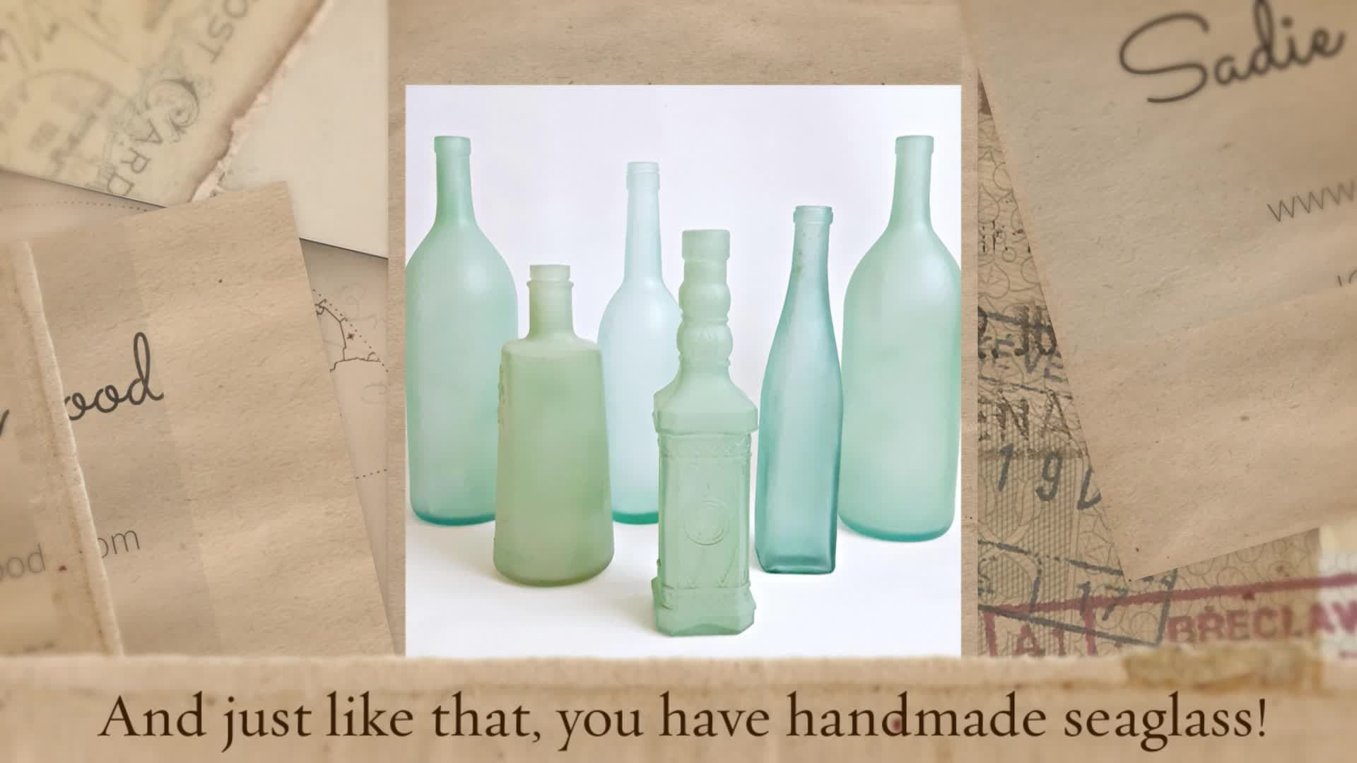 DIY Sea Glass Bottles for Perfect